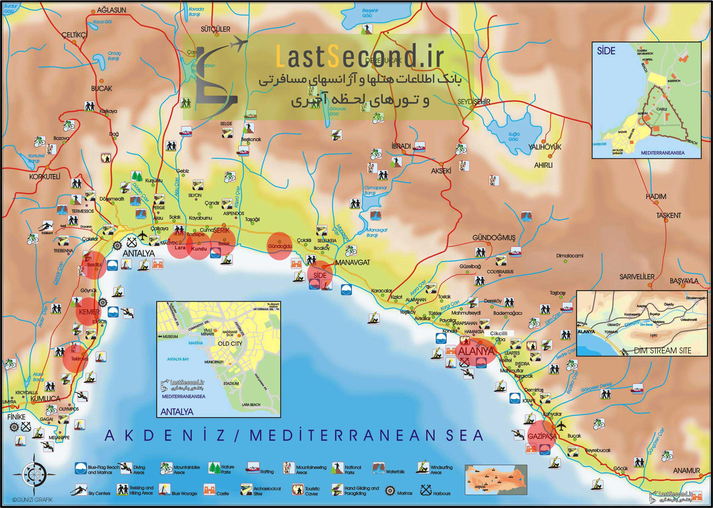 Antalya-Region-Tourist-Map