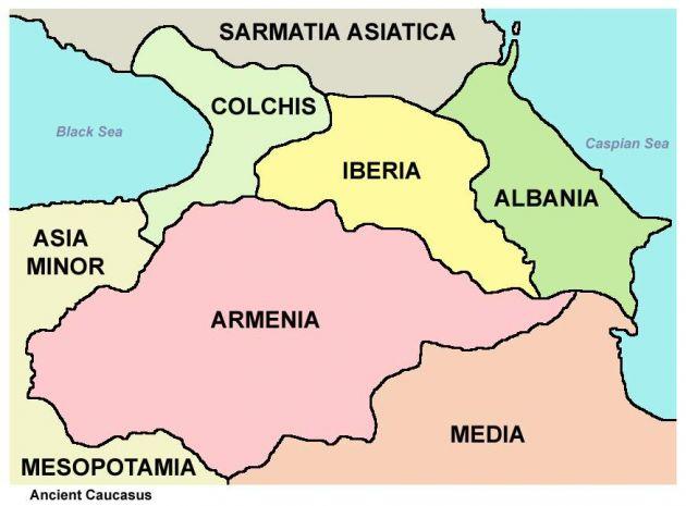 مناطق قفقاز قدیم