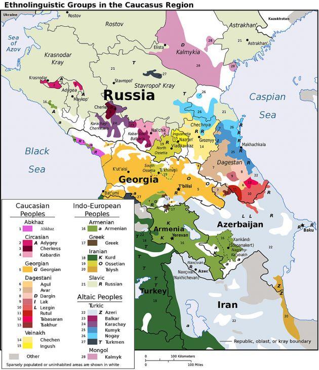 گروههای قومی ساکن در قفقاز