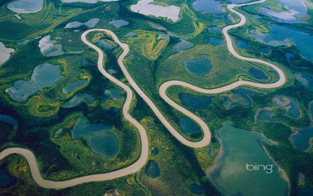 Aerial-of-Mackenzie-River-delta-Northwest-Territories-Canada