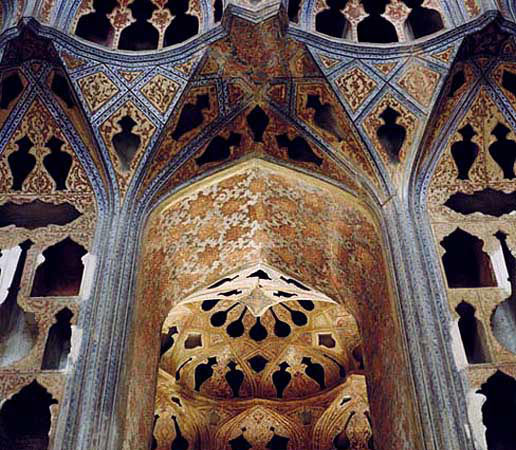 Ornaments-of-Ali-Qapoo-Edifice-Esfahan-In-Iran