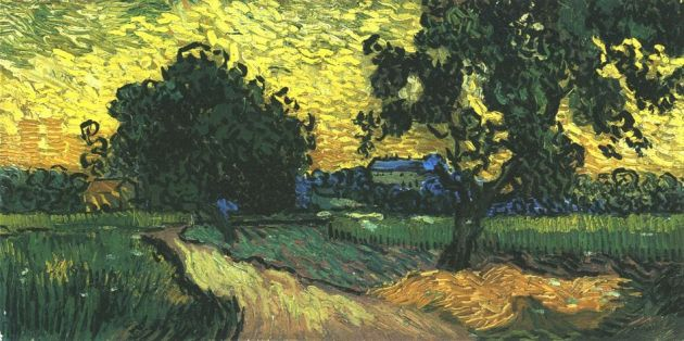 new_vincent-van-gogh-landscape-with-the-chateau-of-auvers-at-sunset