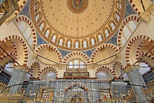 Rustem Pasha Mosque Interior Istanbul Turkey
