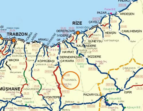 uzungöl-haritası
