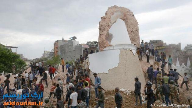 برج دراهارا پس از زلزله