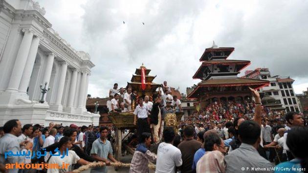 میدان دوربار در کاتماندو پیش از زلزله