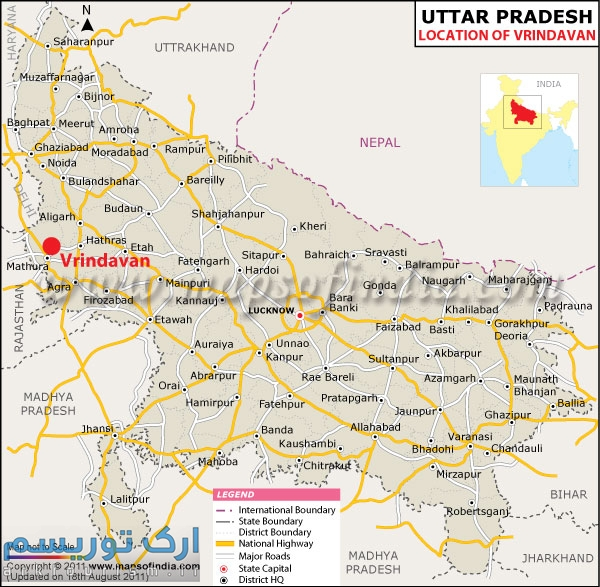 vrindavan-location-map