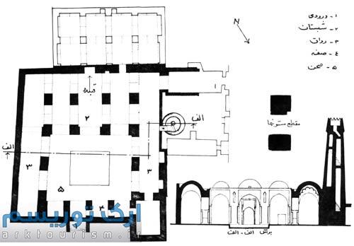 پلان مساجد شبستانی