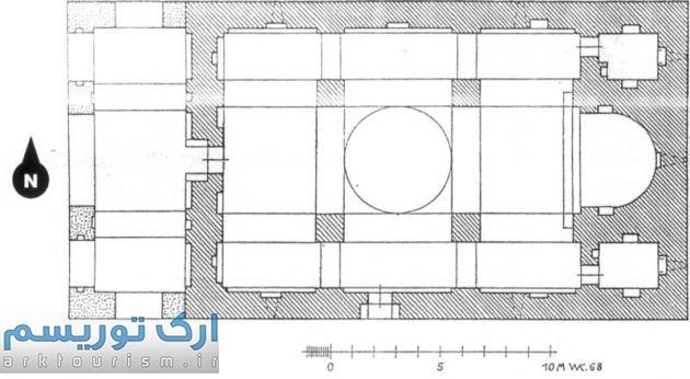 نقشه 5- پلان کلیسای سورپ خاچ مهلذان