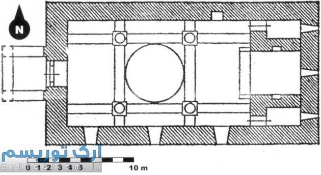 نقشه 6- پلان کلیسای آختاخانه سلماس