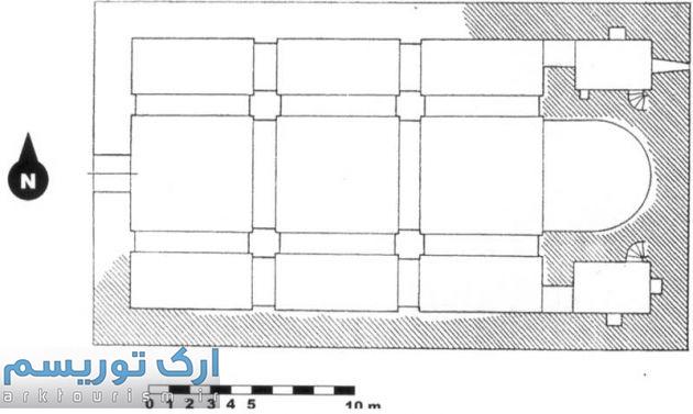 نقشه 7- پلان کلیسای سورپ گئورگ سلماس