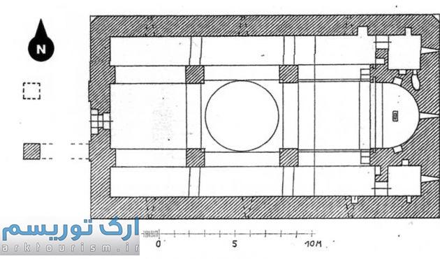 نقشه 4- پلان کلیسای حضرت مریم دره شام